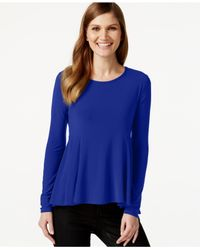 Cece by Cynthia Steffe | Blue Long-sleeve Peplum Top | Lyst