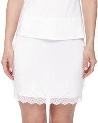 Hanro - White Capri Lace-trimmed Half Slip - Lyst
