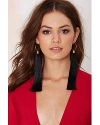 Nasty Gal - Black Suzywan Deluxe Aurora Silk Tassel Earrings - Lyst