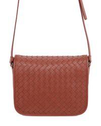 Bottega Veneta | Brown Intrecciato Nappa Leather Shoulder Bag | Lyst