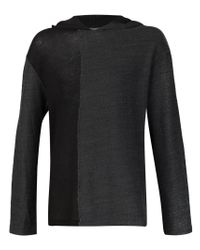 Yohji Yamamoto - Black Knitted Hoodie for Men - Lyst
