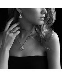 David Yurman - Metallic Cable Wrap Ring With Diamonds - Lyst