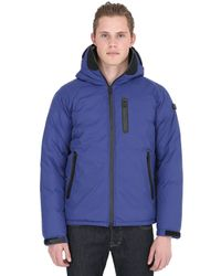 Ai Riders On The Storm - Blue Zip Up Nylon Micro Ripstop Down Jacket for Men - Lyst