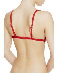 La Perla | Red Triangle Bra | Lyst