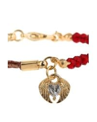 TOPSHOP | Red Heart and Wings Charm Bracelet | Lyst