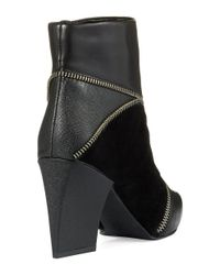Charles by Charles David | Black Lact Ankle Boot | Lyst