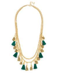 BaubleBar | Green 'grenada Stands' Tassel Necklace - Emerald | Lyst