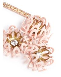 Lulu Frost - Pink 'vivien' Flower Drop Earrings - Lyst