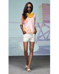 BOSS Orange - Natural 'Liranda'   Cotton Stretch Denim Shorts - Lyst