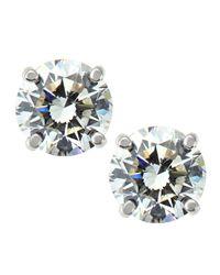 Roberto Coin - Metallic Four-prong Diamond Stud Earrings - Lyst