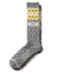 Banana Republic | Gray Bold Fair Isle Camp Sock | Lyst
