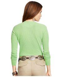 Polo Ralph Lauren | Green Button-front Henley Top | Lyst