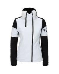 Fendi - Black Fur Collar Ski Jacket - Lyst