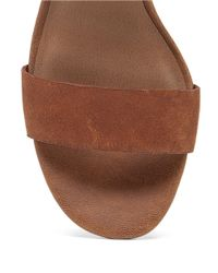 Lucky Brand | Brown Pepper Leather High-heel Sandals | Lyst