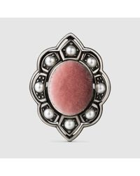 Gucci - Multicolor Ring With Velvet And Crystals - Lyst