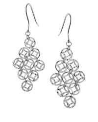 Lord & Taylor | Metallic Filigree Diamond Drop Earrings | Lyst