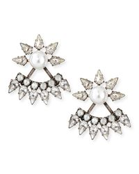 DANNIJO | Metallic Tessie Crystal Jacket Earrings | Lyst