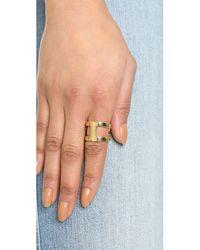 Michael Kors - Metallic Maritime Link Ring - Gold - Lyst