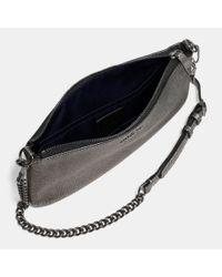 COACH - Herald Crossbody In Metallic Pebble Leather - Lyst