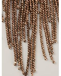 Brunello Cucinelli - Brown Hematite Fringe Necklace - Lyst