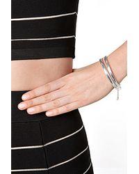 Eddie Borgo | Metallic Zipper Bracelet - Silver | Lyst