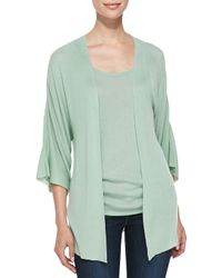 Belford   Green Bambo Cashmere Kimono-sleeve Cardigan   Lyst