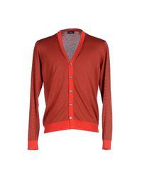 Drumohr - Red Cardigan for Men - Lyst