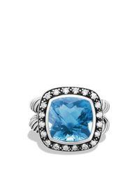 David Yurman | Albion Ring With Hampton Blue Topaz & Diamonds | Lyst