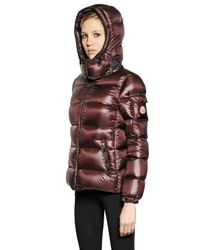 Moncler - Red Berre Brilliant Nylon Down Jacket - Lyst