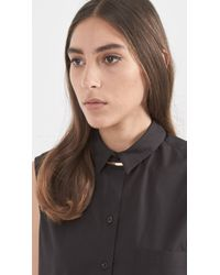 Loren Stewart | Black Gold & Leather Choker Necklace | Lyst
