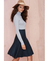 Nasty Gal - Green Elena Midi Skirt - Lyst