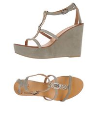 Jfk - Gray Sandals - Lyst