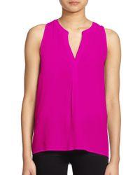 Joie - Pink Aruna Silk Sleeveless Blouse - Lyst