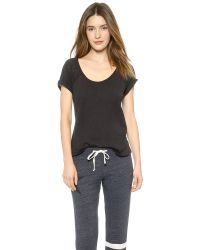 Sundry - Black Short Sleeve Raglan Tee - Lyst