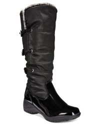 Khombu | Black Abigail Cold Weather Wedge Boots | Lyst