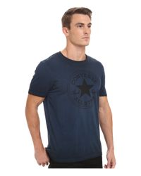 Converse | Blue Black Wash Short Sleeve Crew Tee for Men | Lyst