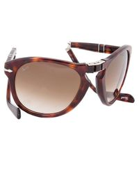 """Persol - \""""Steve Mcqueen\"""" Edition: Havana Tortoise Frame With Brown Faded Lens - Lyst"""