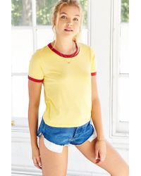 Truly Madly Deeply | Yellow Bleachers Ringer Tee | Lyst