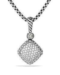 David Yurman | Metallic Cushion On Point Pendant With Diamonds | Lyst