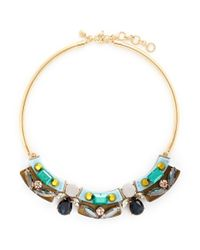 J.Crew - Multicolor Lucite-and-crystal Collar Necklace - Lyst