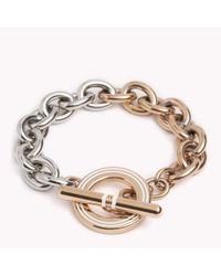 Tommy Hilfiger | Metallic Signature Bracelet | Lyst