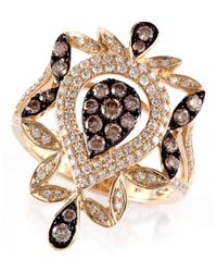 Effy - Metallic 14 Kt Yellow Gold Diamond Ring - Lyst