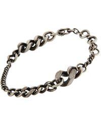 Werkstatt:münchen - Metallic Silver Graduated Curb Chain Bracelet for Men - Lyst