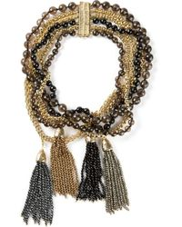 Rosantica - Metallic Bead And Chain Necklace - Lyst