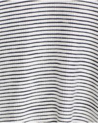 Zara | Gray T-shirt With Slits | Lyst