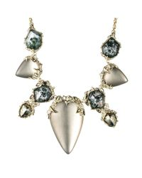 Alexis Bittar - Gray Imperial Crystal Lace Bib Necklace - Lyst
