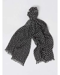 TOPMAN - Black With White Spot Dress Scarf for Men - Lyst