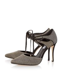 Dune | Metallic Charleen Lace Up High Court Shoes | Lyst