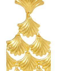 Marie-hélène De Taillac | Metallic 22K Yellow Gold Mermaid Earrings | Lyst