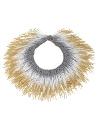 Roarke | Gray Tango Fringe Necklace, Grey | Lyst